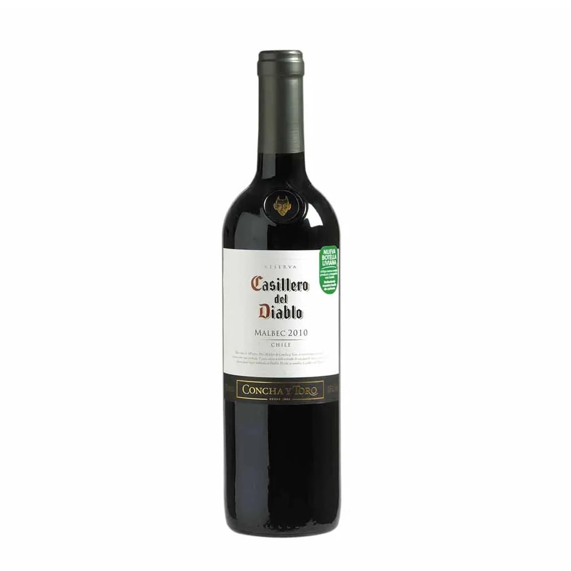 Vino CASILLERO DEL DIABLO Malbec Botella 750ml